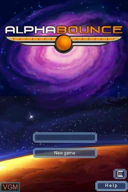 Image du menu du jeu AlphaBounce sur Nintendo DSi
