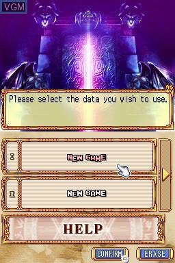 Image du menu du jeu Anonymous Notes - Chapter 2 - From the Abyss sur Nintendo DSi