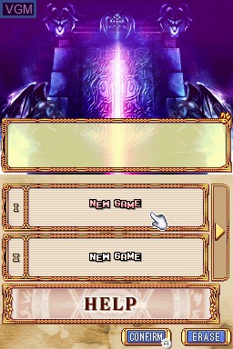 Image du menu du jeu Anonymous Notes - Chapter 1 - From the Abyss sur Nintendo DSi