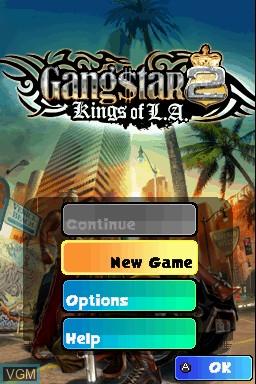 Image du menu du jeu Gangstar 2 - Kings of L.A. sur Nintendo DSi