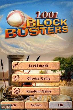 Image du menu du jeu 1001 Blockbusters sur Nintendo DSi