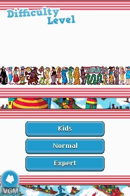 Image du menu du jeu Where's Wally - The Fantastic Journey - Travel Pack 1 sur Nintendo DSi