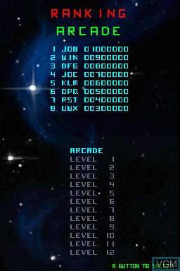 Image du menu du jeu 99Bullets sur Nintendo DSi