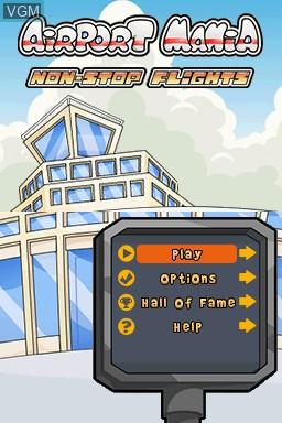Image du menu du jeu Airport Mania - Non-Stop Flights sur Nintendo DSi