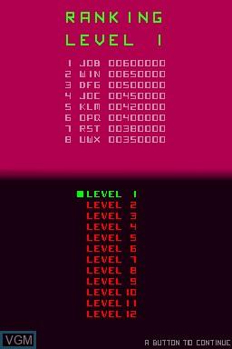 Image du menu du jeu 99Moves sur Nintendo DSi
