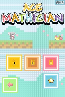 Image du menu du jeu Ace Mathician sur Nintendo DSi