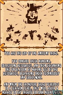 Image du menu du jeu Ancient Tribe sur Nintendo DSi