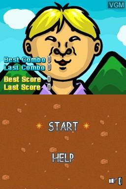 Image du menu du jeu Whack-A-Friend sur Nintendo DSi