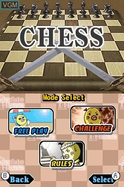 Image du menu du jeu Absolute Chess sur Nintendo DSi