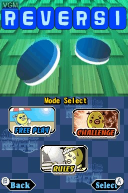 Image du menu du jeu Absolute Reversi sur Nintendo DSi
