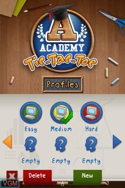 Image du menu du jeu Academy - Tic-Tac-Toe sur Nintendo DSi
