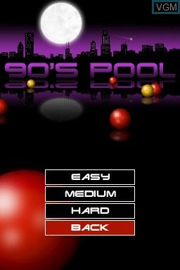 Image du menu du jeu 90's Pool sur Nintendo DSi