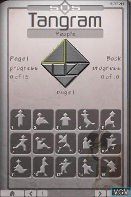 Image du menu du jeu 505 Tangram sur Nintendo DSi