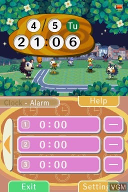 Image in-game du jeu Animal Crossing Clock sur Nintendo DSi