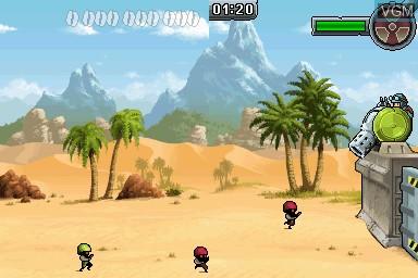 Image in-game du jeu Army Defender sur Nintendo DSi