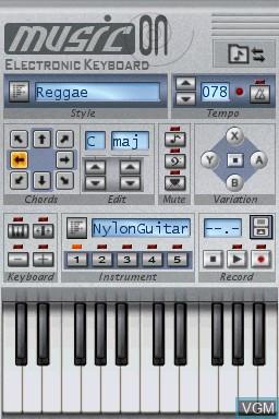 Music on - Electronic Keyboard