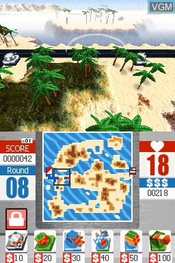 Image in-game du jeu Glory Days - Tactical Defense sur Nintendo DSi
