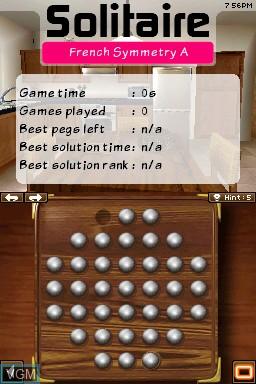 Image in-game du jeu 24-7 Solitaire sur Nintendo DSi