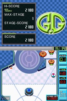 Image in-game du jeu G.G Series - Air Pinball Hockey sur Nintendo DSi
