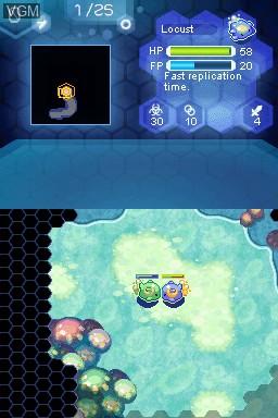 Image in-game du jeu Amoebattle sur Nintendo DSi