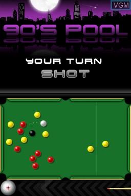 Image in-game du jeu 90's Pool sur Nintendo DSi