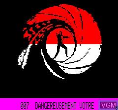 Image de l'ecran titre du jeu 007 - Dangereusement Votre sur Tangerine Computer Systems Oric