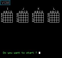 Image de l'ecran titre du jeu 3D Luffar-Schack sur Tangerine Computer Systems Oric