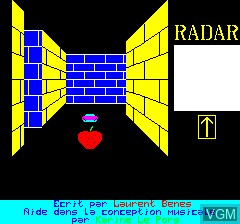 Image de l'ecran titre du jeu 3D Munch sur Tangerine Computer Systems Oric