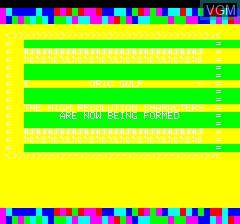 Image de l'ecran titre du jeu 48k Oric Golf sur Tangerine Computer Systems Oric