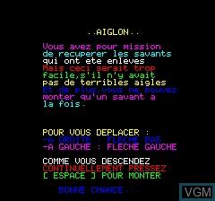 Image de l'ecran titre du jeu Aiglon sur Tangerine Computer Systems Oric