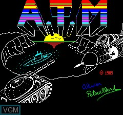 Image de l'ecran titre du jeu A.T.M - Air Terre Mer sur Tangerine Computer Systems Oric