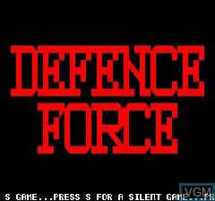 Image de l'ecran titre du jeu Defense Force sur Tangerine Computer Systems Oric