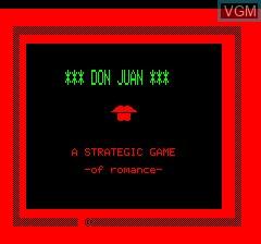 Image de l'ecran titre du jeu Don Juan sur Tangerine Computer Systems Oric