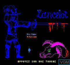Image de l'ecran titre du jeu Lancelot sur Tangerine Computer Systems Oric