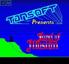 Image de l'ecran titre du jeu Land of Illusion sur Tangerine Computer Systems Oric