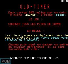 Image de l'ecran titre du jeu Old-Timer sur Tangerine Computer Systems Oric