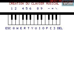 Image de l'ecran titre du jeu Oric Musicien sur Tangerine Computer Systems Oric