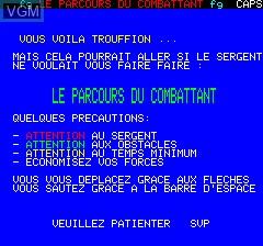 Image de l'ecran titre du jeu Parcours Du Combattant, Le sur Tangerine Computer Systems Oric