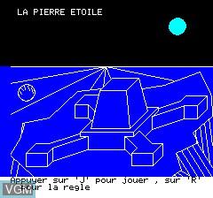 Image de l'ecran titre du jeu Pierre Etoile sur Tangerine Computer Systems Oric