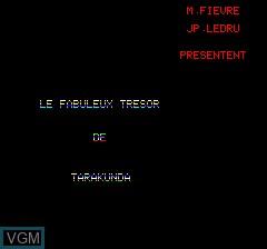 Image de l'ecran titre du jeu Tarak sur Tangerine Computer Systems Oric