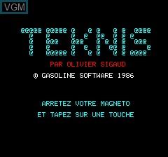 Image de l'ecran titre du jeu Teknis sur Tangerine Computer Systems Oric