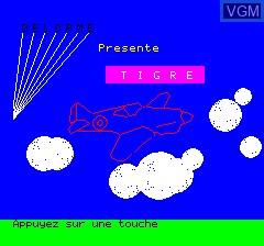 Image de l'ecran titre du jeu Tigre sur Tangerine Computer Systems Oric