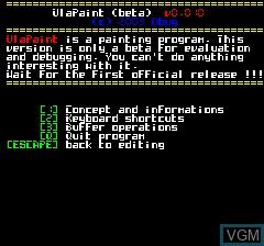 Image de l'ecran titre du jeu UlaPaint V0.001 sur Tangerine Computer Systems Oric