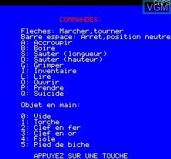Image du menu du jeu Aigle D'Or, L' sur Tangerine Computer Systems Oric