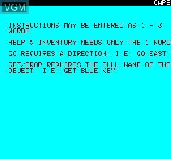 Image du menu du jeu Leopard Lord sur Tangerine Computer Systems Oric