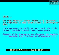 Image du menu du jeu Obelix sur Tangerine Computer Systems Oric