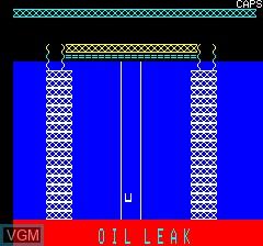 Image du menu du jeu Oil-Leak sur Tangerine Computer Systems Oric