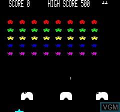 Image du menu du jeu Oric Invaders sur Tangerine Computer Systems Oric