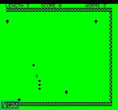 Image du menu du jeu Oric Worm sur Tangerine Computer Systems Oric