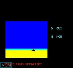 Image du menu du jeu Tarak sur Tangerine Computer Systems Oric